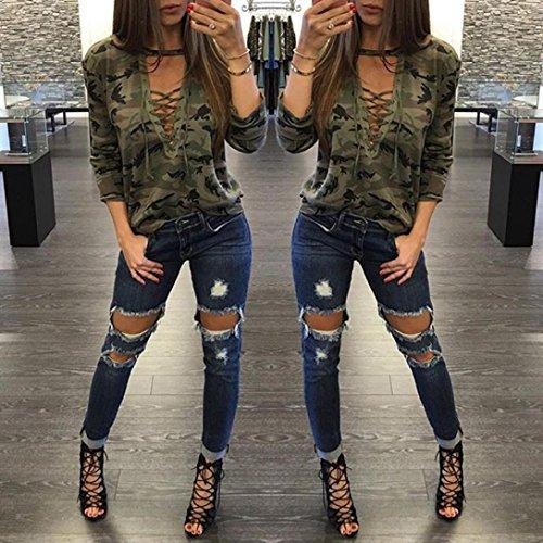 [S-XL]レディース Tシャツ ファッション 女性の長いそでシャツ スリム ブラウス カモフラージュ プリント トップス 長袖 おしゃれ ゆったり カジュアル 人気 高品質 快適 薄手 ホット製品 通勤通学