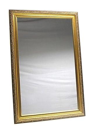 Amazon.com: Jansons & Company Wall Mirror Silver Pebble Detail Frame ...