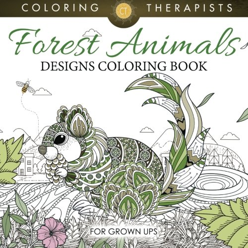 Forest Animals Designs Coloring Book For Grown Ups ()