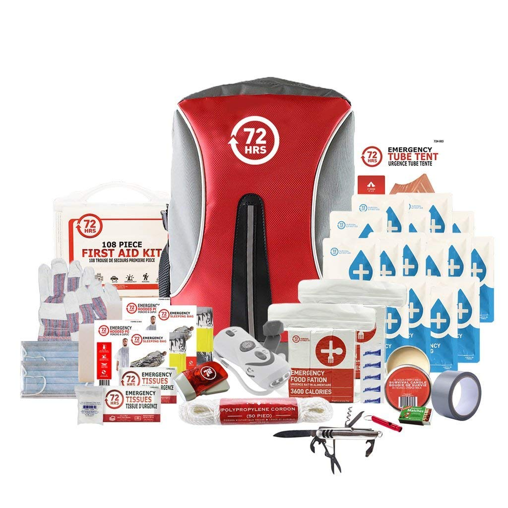 Earthquake Preparedness Kit, Emergency Kit, Survival Kit for 2 Person - 72HRS Backpack Deluxe Kit by 72Hours by 72HRS