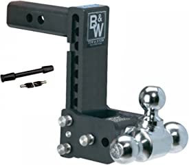 B&W Hitches TS10049B Tow & Stow adjustable hitch ball mount