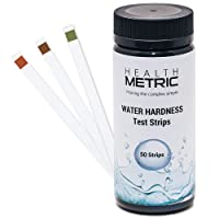 Water Hardness Test Strips - Quick and Easy Testing Kit with 50 Strips at 0-425 ppm   Calcium and Magnesium Total Hardness Test   Ideal for Water Softener Dishwasher Well Spa and Pool Water