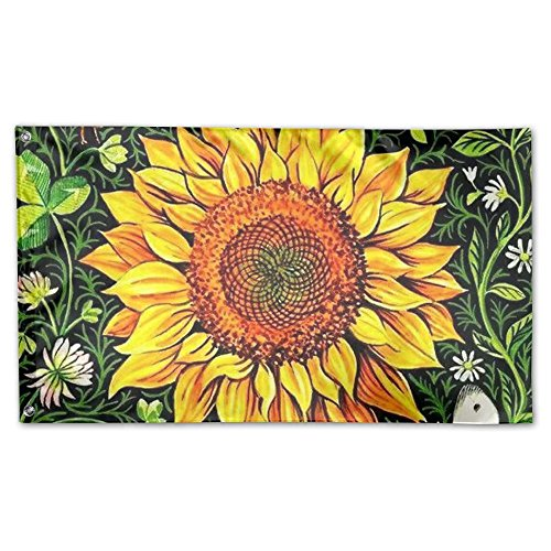 DFGTLY Decorative House Flags -Beautiful Sunflower Outdoor S