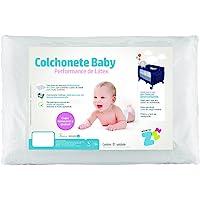 Colchonete Para Berço Desmontável Baby Revestimento Fibrasca Branco 53x91x4 Colchonete