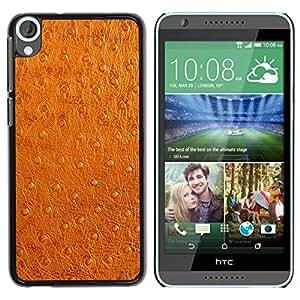 Estuche Cubierta Shell Smartphone estuche protector duro para el teléfono móvil Caso HTC Desire 820 / CECELL Phone case / / Leather Imitation Brown Faux Skin Fabric Art /