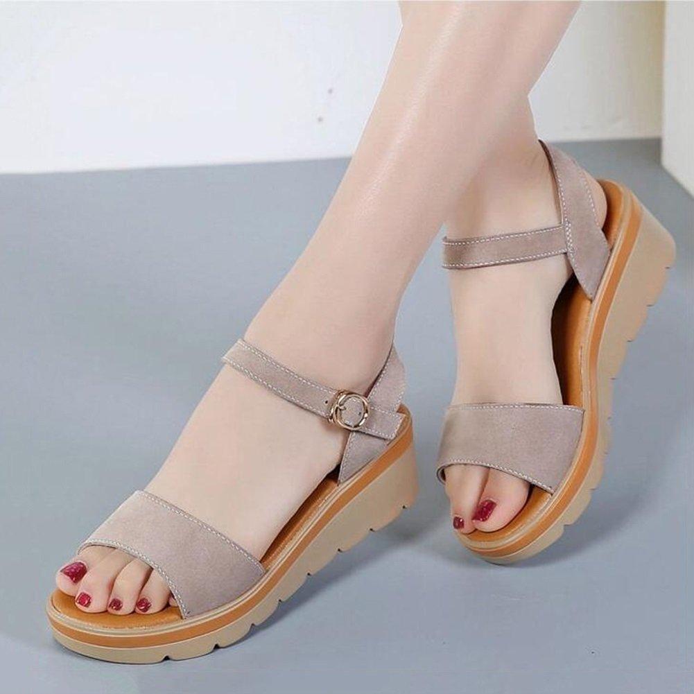 DALL Pumps Weich Und Atmungsaktiv Damenschuhe High High High Heels Hausschuhe Sandalen 6 cm Hoch (Farbe   Braun, größe   EU 35 UK 3.5 CN 35) 8ee493
