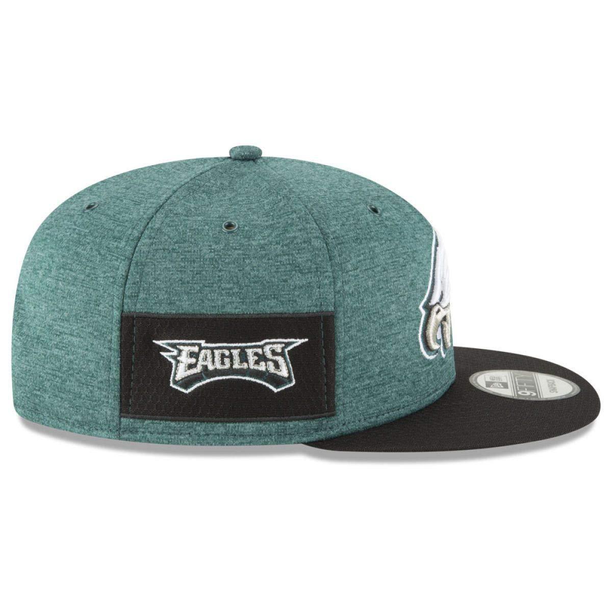 61186e2b52c Amazon.com  New Era Philadelphia Eagles 2018 NFL Sideline Home Official  9FIFTY Snapback Hat Green Black  Sports   Outdoors