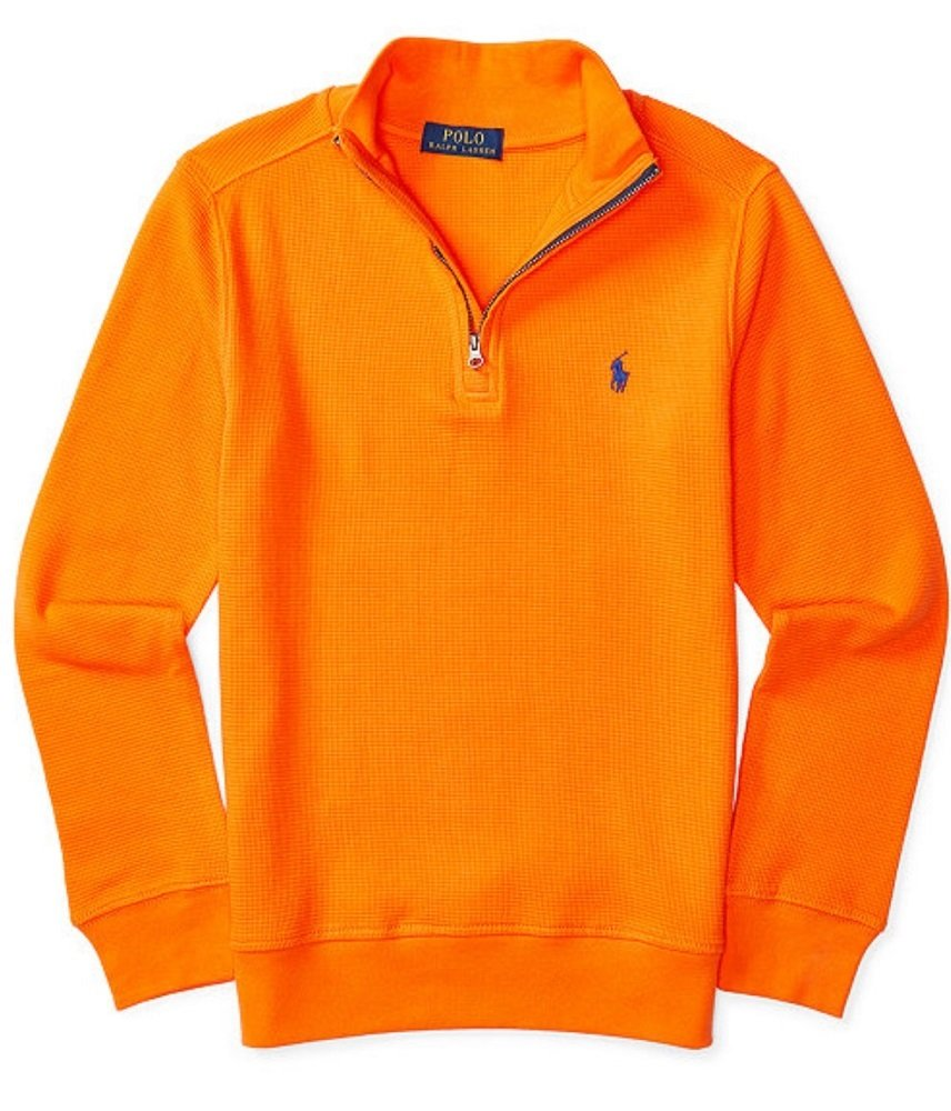 Ralph Lauren Boys Waffle Knit Half-Zip PulloverBrigth Signal - Orange p 42