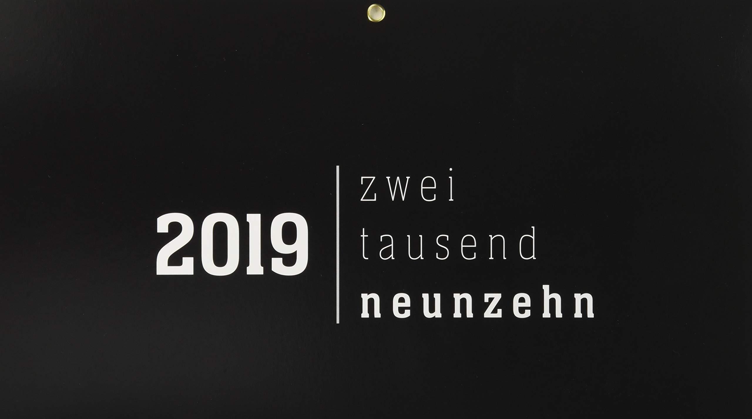 4-Monatskalender, faltbar, Black 2019