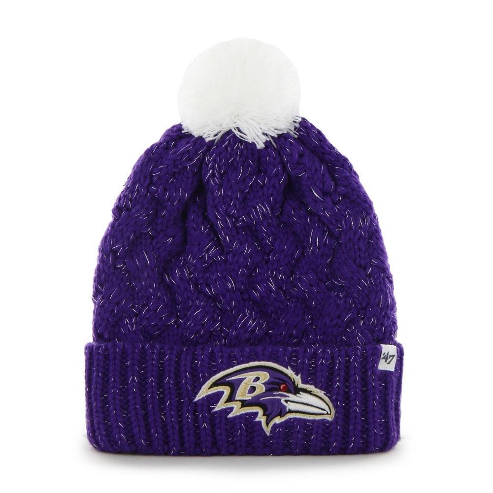f7d2f937 '47 Brand Women's Fiona Beanie Hat with POM POM - NFL Ladies Cuffed Crochet  Knit Toque Cap