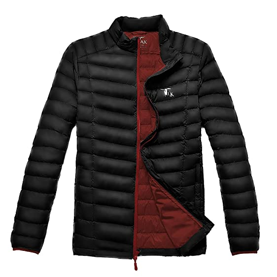 Amazon.com: TAK Men's Puffer Down Jacket Packable Ultra Light Coat ...