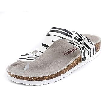 LIXIONG Tragbar Paar Strand Schuhe Sommer Mode Zebra Hausschuhe Weibliche Kork Hausschuhe Für 18-40 Jahre Alt Modeschuhe ( größe : EU40/UK7/CN41 ) dbuQcM8Z
