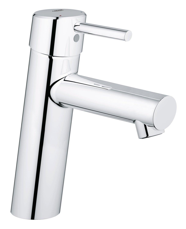 Grohe Concetto | Badarmatur - Waschtischarmatur | glatter Kö rper, reduzierter Wasserverbrauch | 3224010E