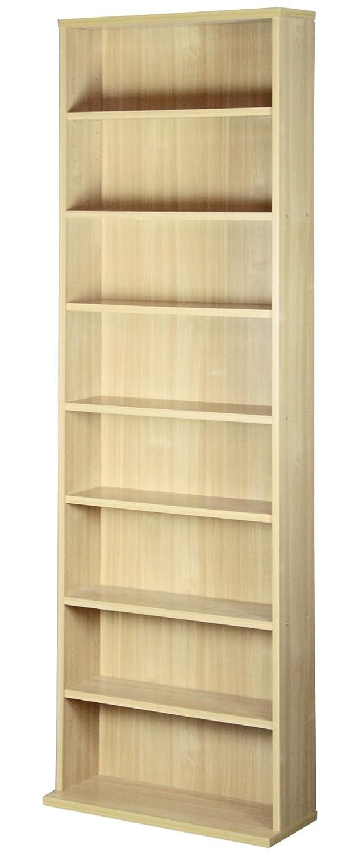 サンニード 薄型 本棚 S-1860 書棚 ナチュラル 木製 幅60cm 高さ180cm A-L1 B010ALABHK ナチュラル ナチュラル