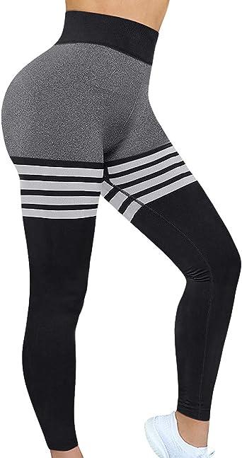 Womens High Waist Yoga Pants Butt Lifting Stretchy Tummy Control Workout Legging