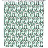Uneekee Tropical Leaves Shower Curtain: Large Waterproof Luxurious Bathroom Design Woven Fabric