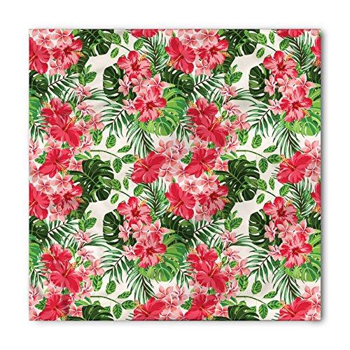 - Lunarable Unisex Bandana, Floral Tropical Botanic Flowers, Green Jade