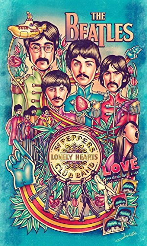 - Beatles SGT Peppers Rock Band Art Concert Poster 13x19 Poster Classic Vintage Old Music