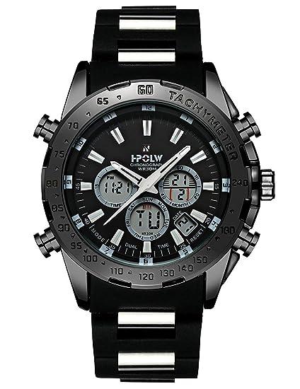 Relojes Digitales Hombre con Fecha LED Deportiva Militar, Resistente al Agua, Reloj de Cuarzo