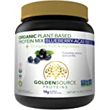 GoldenSource Proteins Organic Plant-Based Protein, Blueberries Acai, 1 Pound
