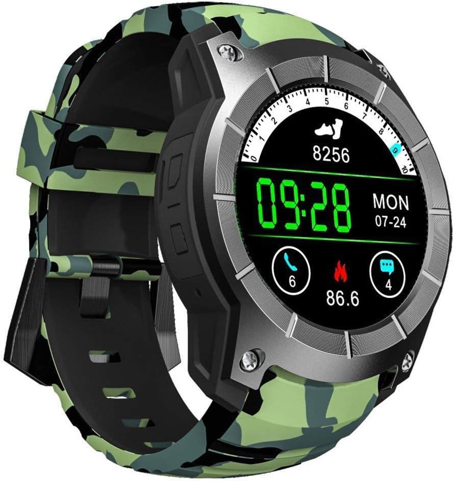 OOLIFENG Reloj Inteligente, Corriendo Relojes Con GPS, Pulsómetros, Brújula, Deportes Podómetro Para Ios Android,Camo