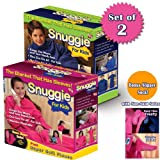 SNUGGIE FOR KIDS WITH SLIPPER SOCKS (SET OF 2) 1-PINK AND 1-BLUE