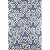 """Momeni Rugs SUMITSUM18NVY5076 Summit Collection, Hand Knotted Transitional Area Rug, 5' x 7'6"""", Navy Blue"""