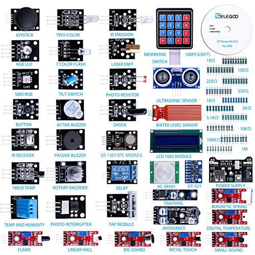 ELEGOO Upgraded 37 in 1 Sensor Modules Kit with