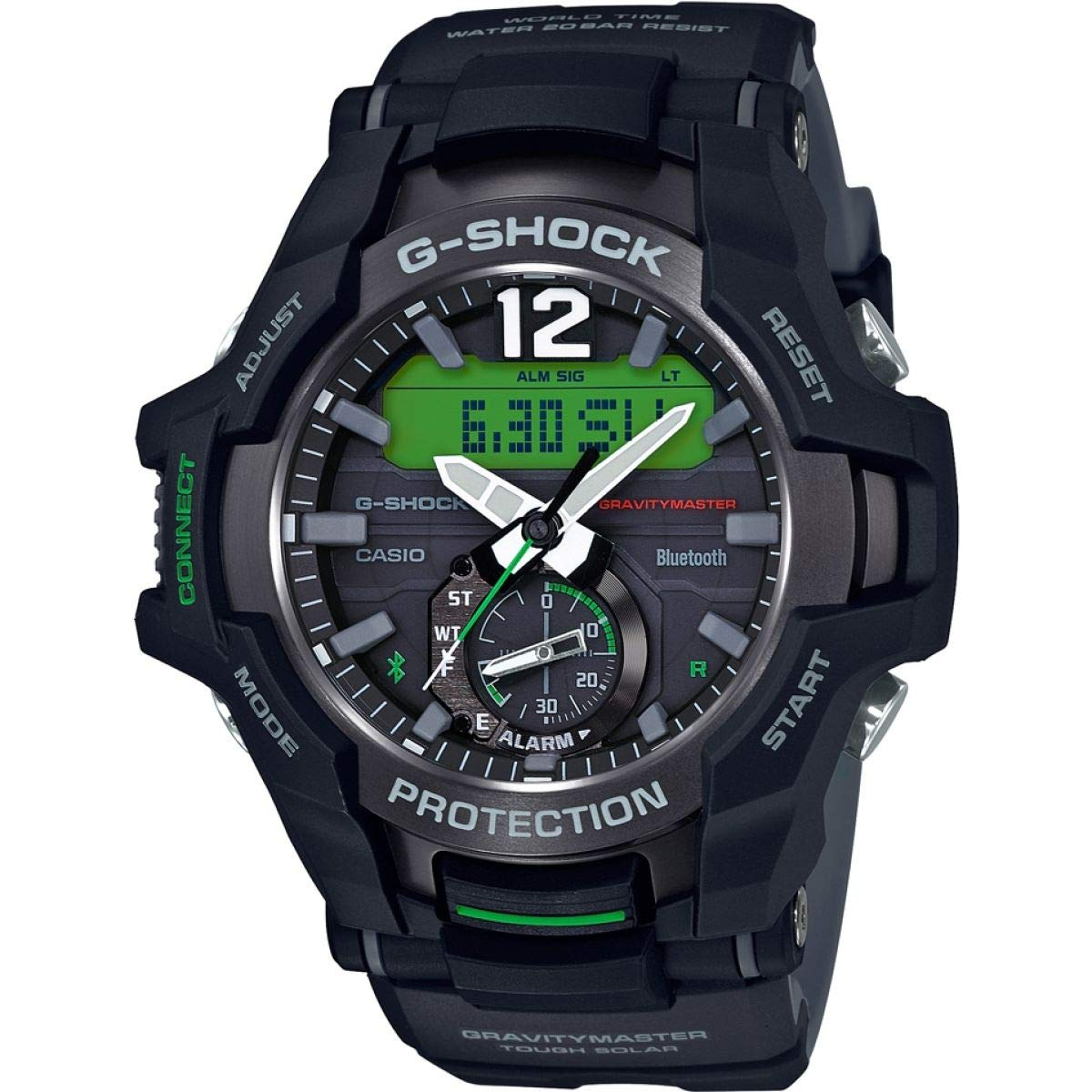 Casio G-Shock Master of G Gravitymaster Bluetooth Tough Solar Mens Watch GR-B100-1A3ER