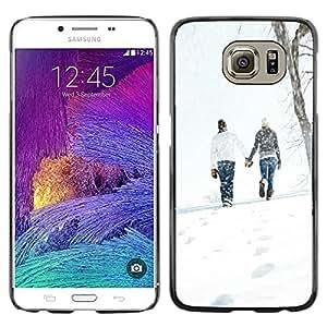 Smartphone Rígido Protección única Imagen Carcasa Funda Tapa Skin Case Para Samsung Galaxy S6 SM-G920 Love Winter Couple / STRONG