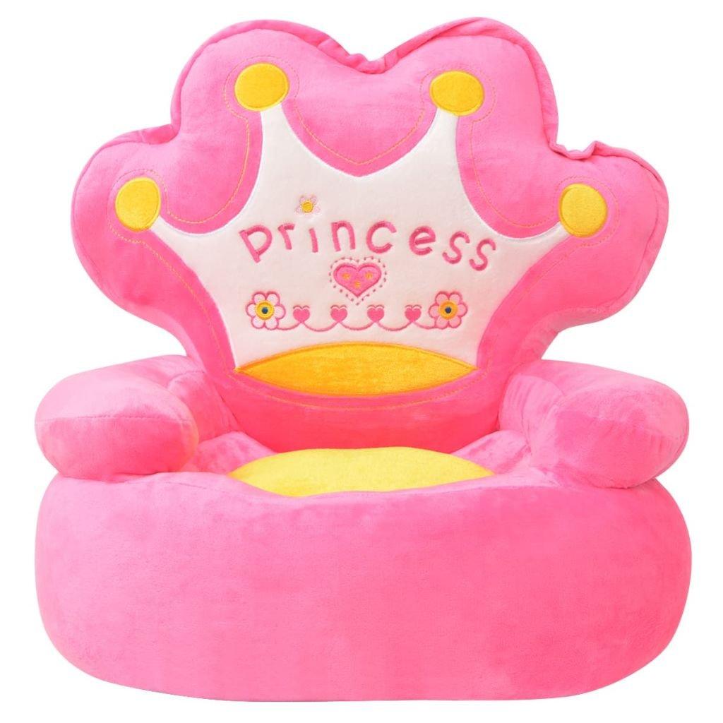 Festnight- Poltrona Imbottita per Bambini Principessa Rosa