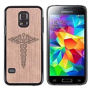 - Medical Doctor Hospital Snake Healing - - Funda Delgada Cubierta Case Cover de Madera FOR Samsung Galaxy S5 Mini G870a BullDog Case
