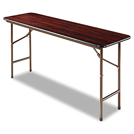 Alera Folding Rectangular Table, 60 By 18 By 29 Inch