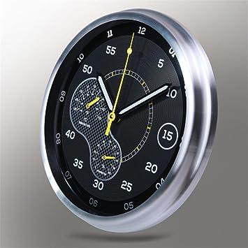 H&M Einfache moderne Wanduhr mit Thermometer Hygrometer Stille runde ...