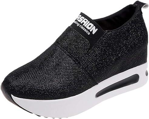 Platform Shoes Womens Slip On Sneakers