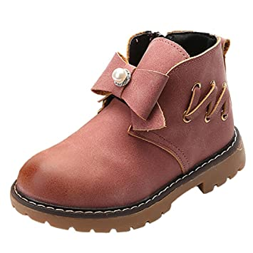 Koly Zapatos para Bebé Botas de cuero sintético para niña Botines impermeables Infantil Martín Sneaker Invierno Grueso Nieve Casual Diamante de imitación ...