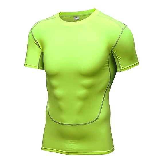 Vdual hombre Camiseta de compresión sin para Deportes de Secado Rápido Baselayer Funcionamiento Tirantes 7cxp9r