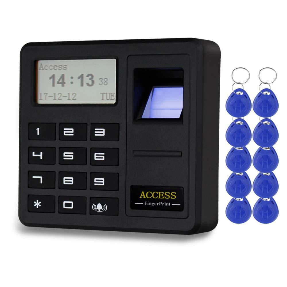NN99 Sistema de control de acceso para puertas controlador de huellas dactilares RFID teclado RFID identificaci/ón biom/étrica lector 125 KHz EM con 10 teclas