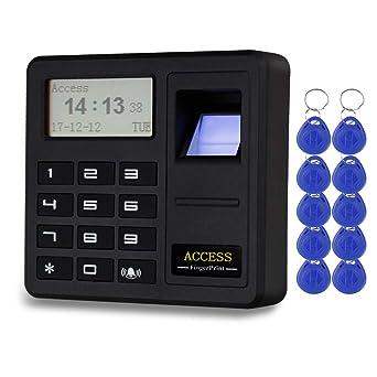 HFeng Sistema de control de acceso por huella digital Teclado RFID biométrico 125 KHz Controlador de