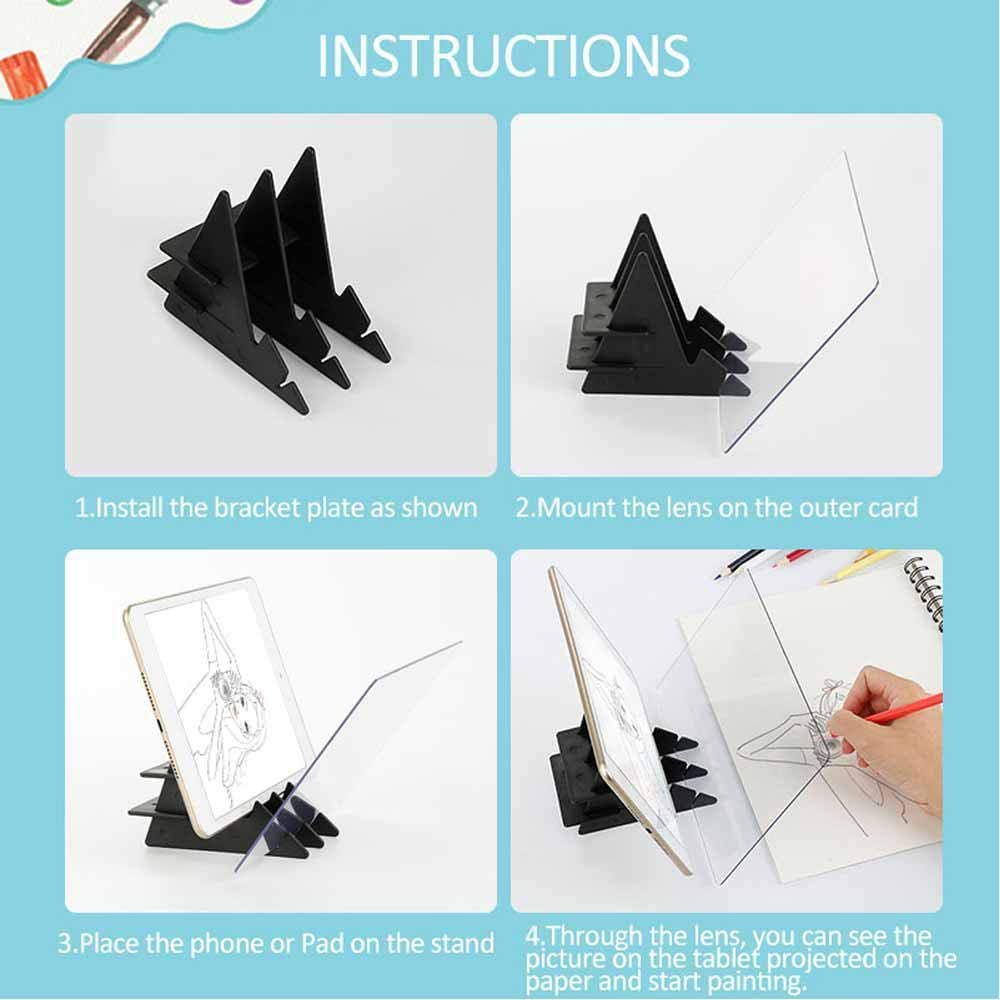 Sketch Wizard Optical Drawing Board Tracing Drawing Board Drawing Sketching Tool Zero-Based Mould Toy Gift for Students Adults Artists Beginners