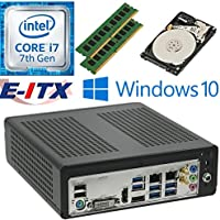 E-ITX ITX350 Asrock H270M-ITX-AC Intel Core i7-7700 (Kaby Lake) Mini-ITX System , 32GB Dual Channel DDR4, 2TB HDD, WiFi, Bluetooth, Window 10 Pro Installed & Configured by E-ITX