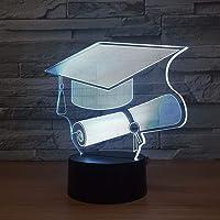 3D Nachtlampje Led Nachtlampje Bureau Leren PhD Hat Mooie Cool Speelgoed Geschenken voor Woondecoratie…