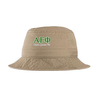 91ea188e03e Express Design Group Alpha Epsilon Phi Script Bucket Hat Khaki at ...