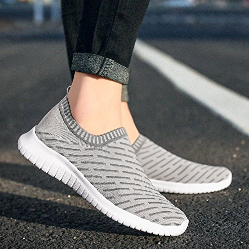 Slip US Lightweight Casual Shoes Women L On KONHILL gris 's Tenis5 Mesh Walking Breathable Black Running Athletic 2108 vEqwn