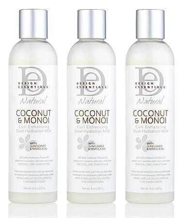 Amazoncom Value Pack Of 3 Design Essentials Coconut Monoi