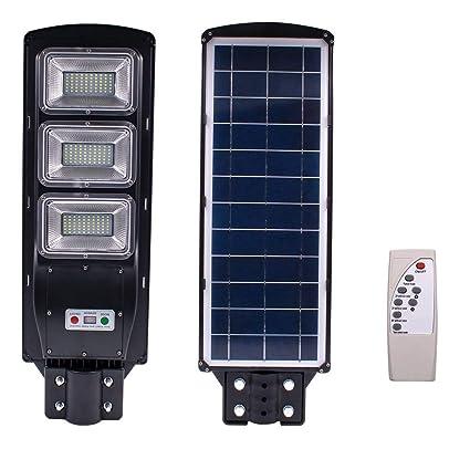 Amazon.com: Sensor solar de luz para exteriores, 60 W, 120 ...