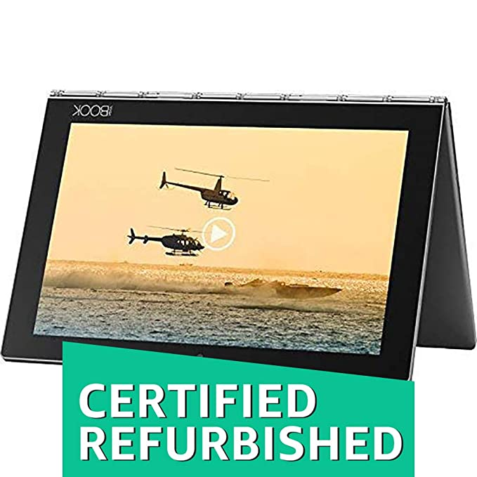 (CERTIFIED REFURBISHED) Lenovo Yoga Book Tablet (10.1 inch, 64GB, Wi-Fi + 4G LTE + Voice Calling), Grey Tablets at amazon
