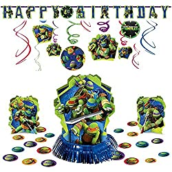 TMNT Teenage Mutant Ninja Turtles Hanging Birthday Party Pack Decoration Kit