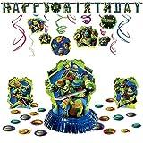 amscan TMNT Teenage Mutant Ninja Turtles Hanging Birthday Party Pack Decoration Kit