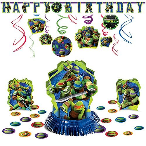 (TMNT Teenage Mutant Ninja Turtles Hanging Birthday Party Pack Decoration Kit )